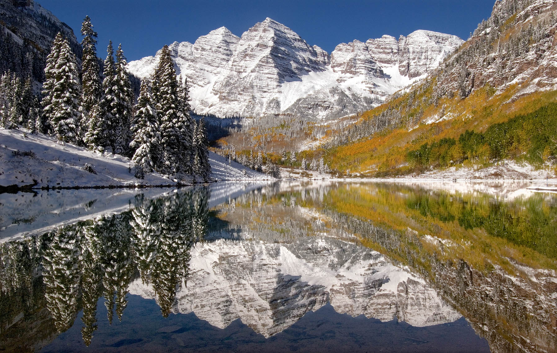 Maroon Bells Reflection-Aspen=P