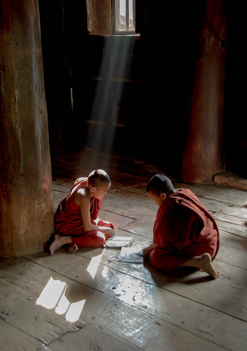 Two Young Monks, Burma-P
